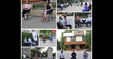 Бельцкие активисты провели серию круглых столов под открытым небом