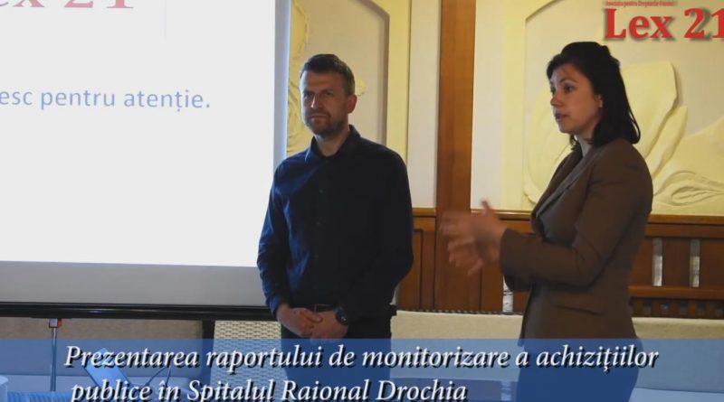 Prezentarea raportului de monitorizare a achizițiilor publice în Spitalul Raional Drochia