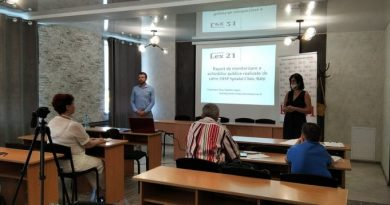 """On July 30, 2021, the """"Association for Human Rights Lex XXI"""" held a public presentation of the """"Report on monitoring public procurement in the Balti Clinic Hospital"""""""